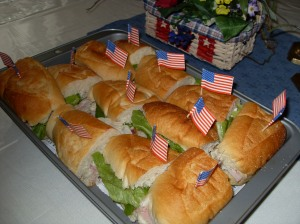 Wave Your Flag Sandwiches