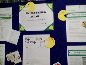 Nutrition Month Bulletin Board